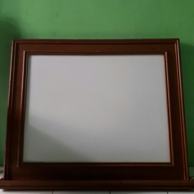 Black and White Board Kayu Jati