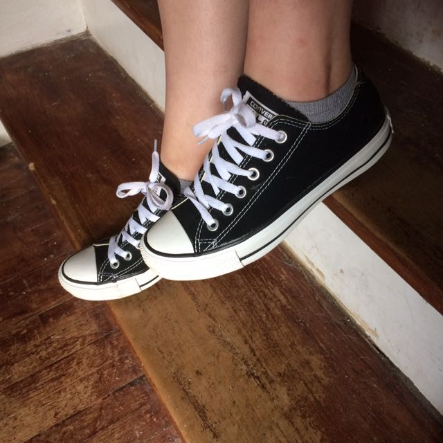 Black And White Low-top Converse