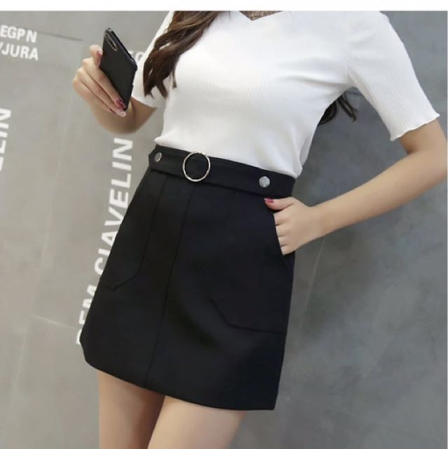 Black A-skirt