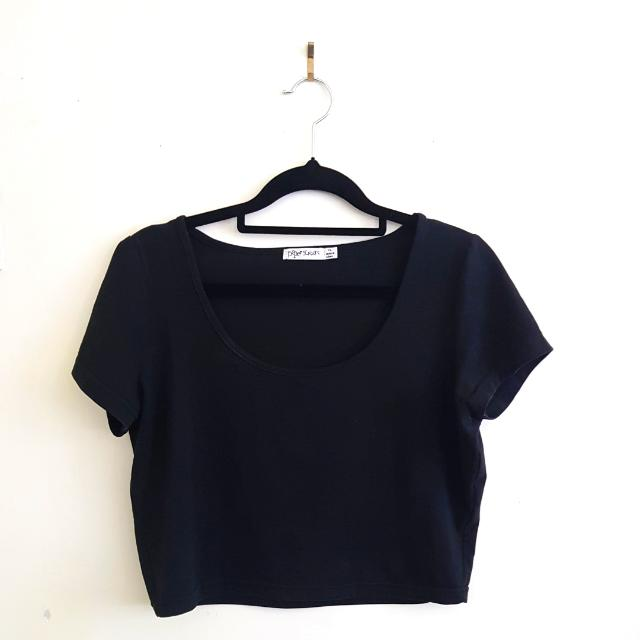 Black Crop Top - XL
