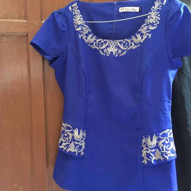 blouse blue merk bee nen
