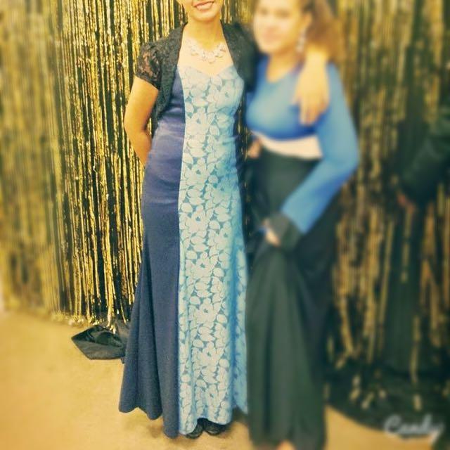 Blue Mermaid Ball dress