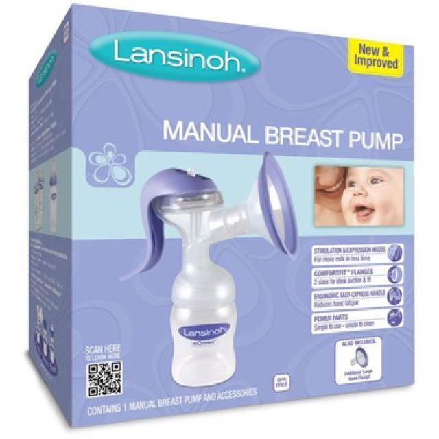 BNIB Lansinoh manual Breast Pump