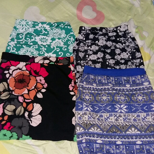 Buy 1 Get All Printed Skirts Casual or Office attire