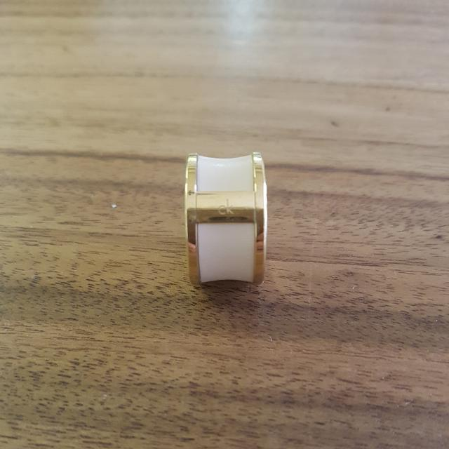 Calvin Klein Gold & Leather Ring