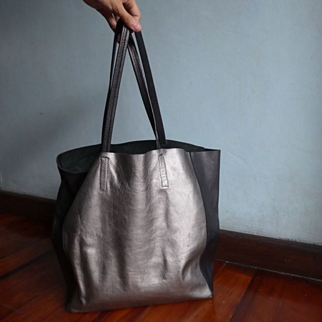 Carry All Leather Tote Bag