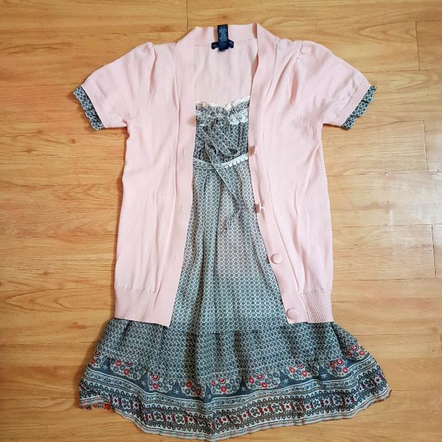 Casual Dress Paster Pink