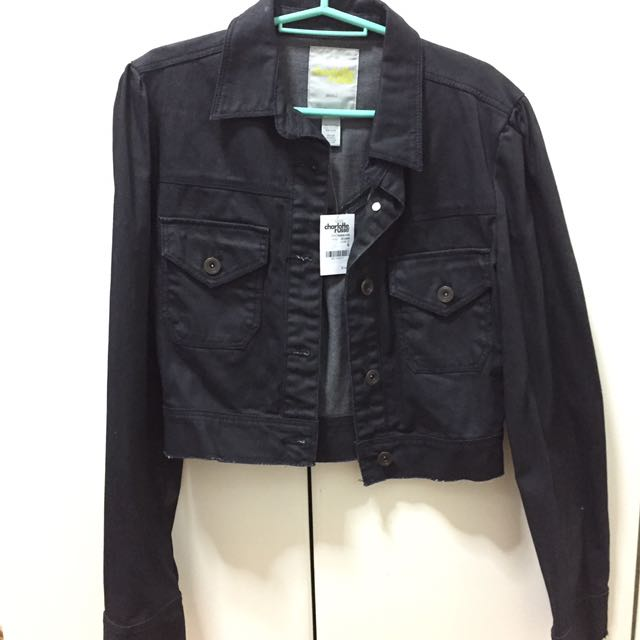 Charlotte Russe Black Denim Jacket