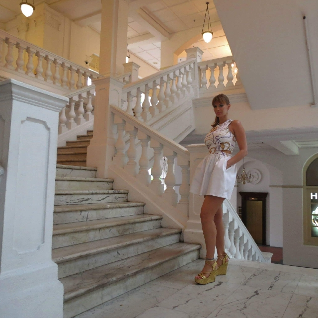 C&M White Dress Size 10