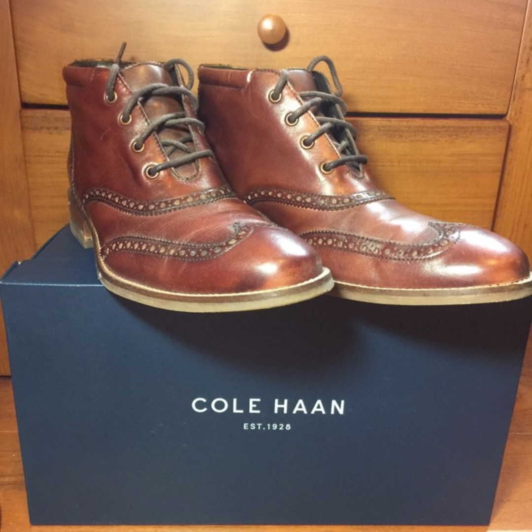 COLE HAAN 美國帶回 純牛皮 中統皮鞋 超好看 窄楦頭