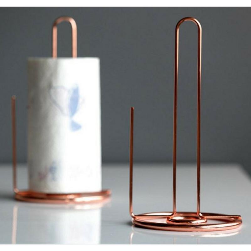 Copper Wire Paper Towel Holder/Kitchen/ Rose Gold/ Tissue Paper/ Bathroom,  Kitchen U0026 Appliances On Carousell