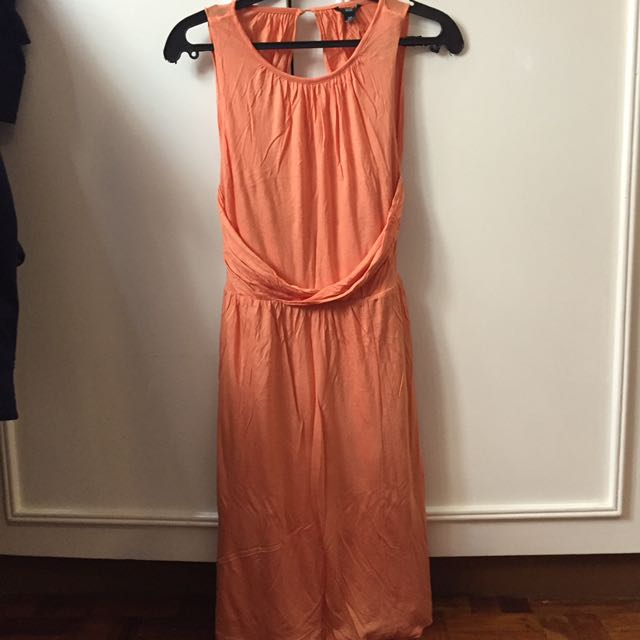 ZARA Coral Backless Dress