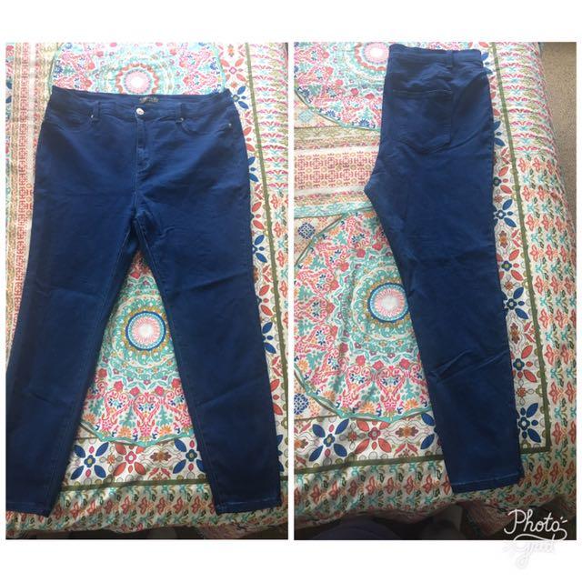 Dark Blue Jeans Plus Sized