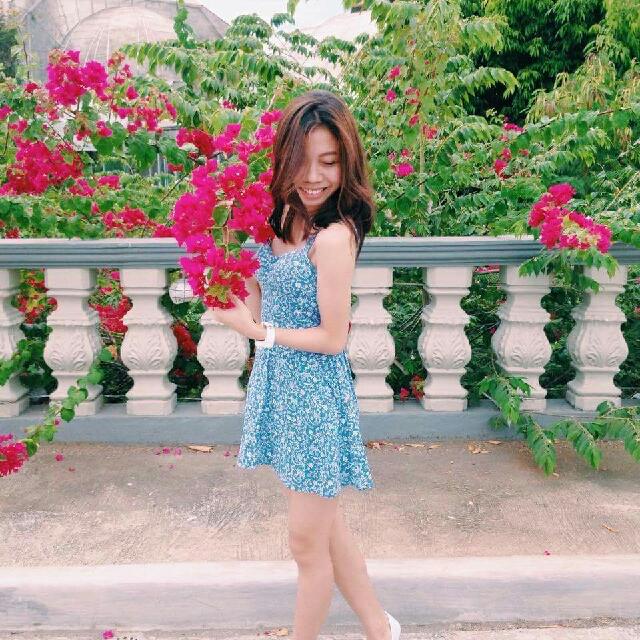 Denim Like Floral Dress