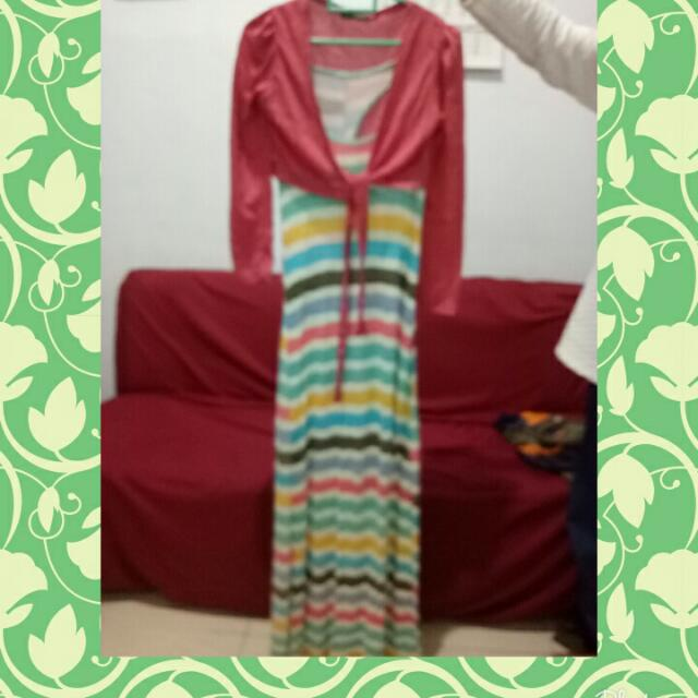 Dress kaos Just D Orange