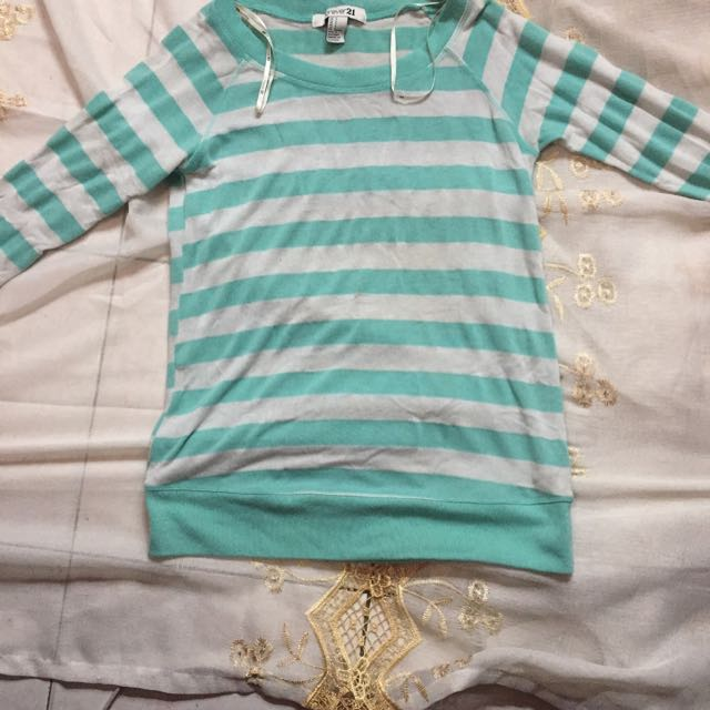 F21 Long sleeves Mint Blue