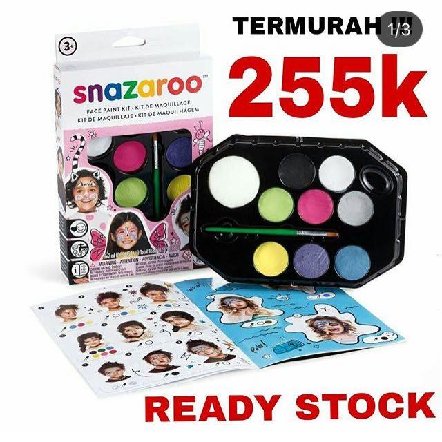 READY STOCK Paket Snazaroo face painting kids set aman untuk anak halloween body paint