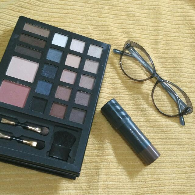 FOREVER 21 Multicolor Blush/Eyeshadow Palette + Etude House Play 101 Stick + Specs w/ black pouch