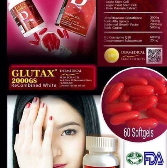 Glutax 20,000gs Recombined White 60 Soft gel Capsule