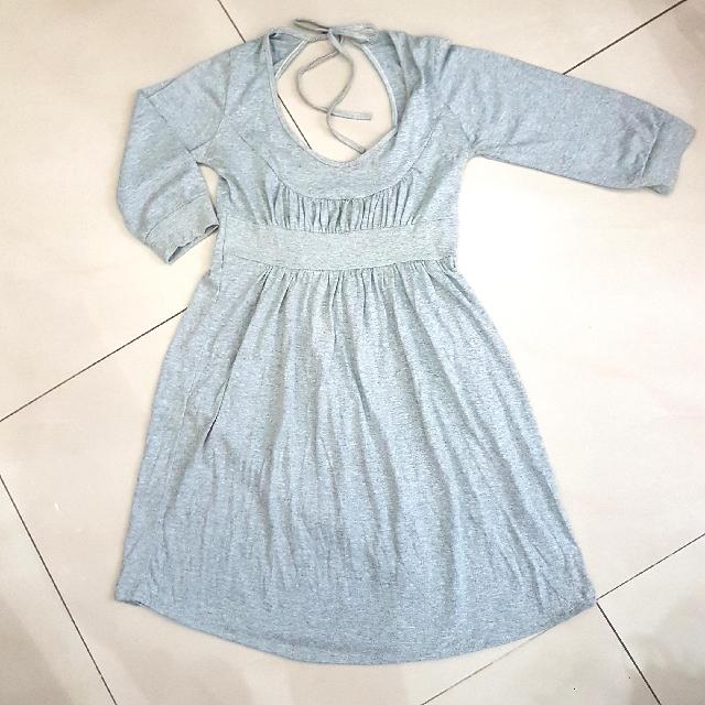 Gray Back Dress