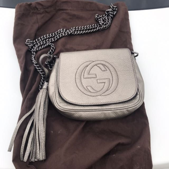 Gucci Soho Grey Leather