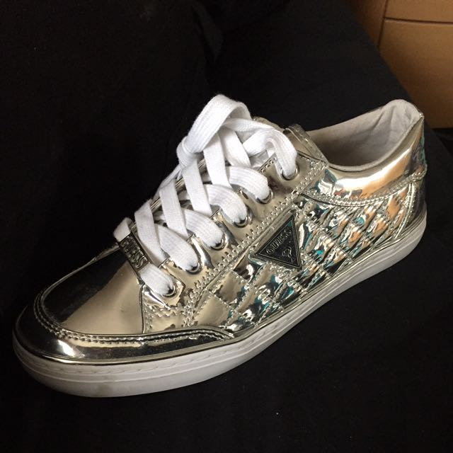 GUESS SNEAKERS SILVER AUTHENTIC