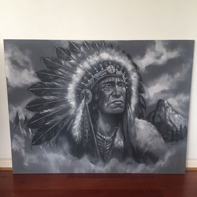 Hand Painted Indian Canvas Painting