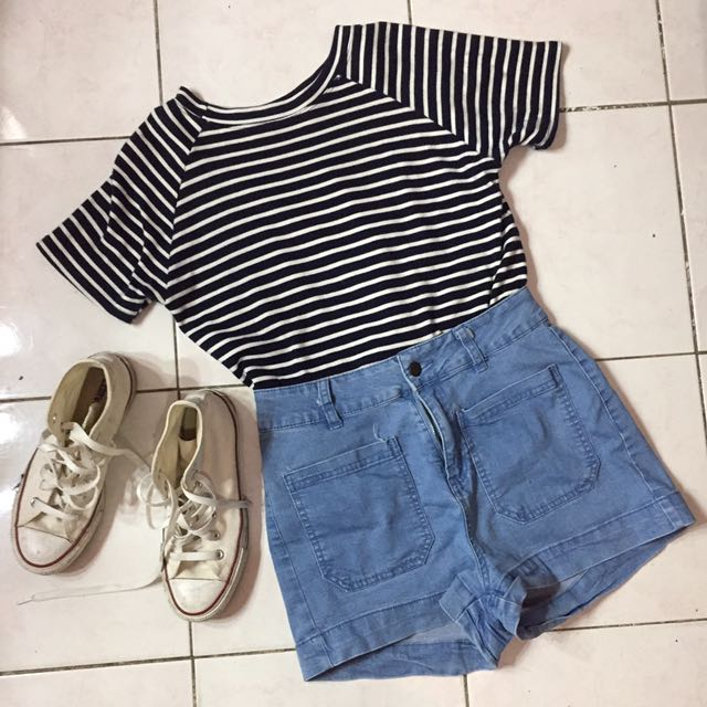 High Waisted Shorts And Top BUNDLE