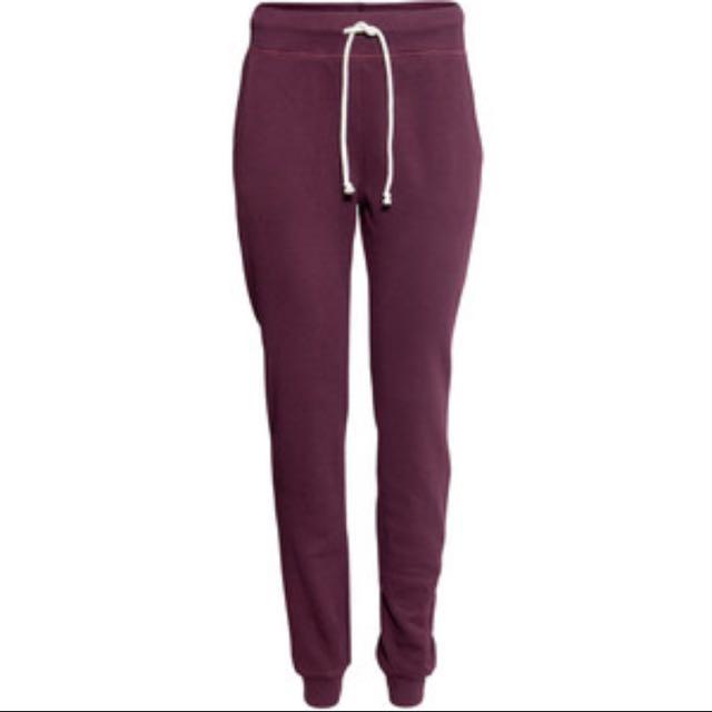H&M basic maroon sweats