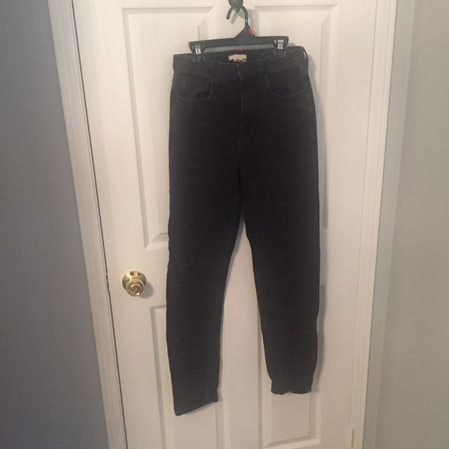 H&M High Waisted Black Denim