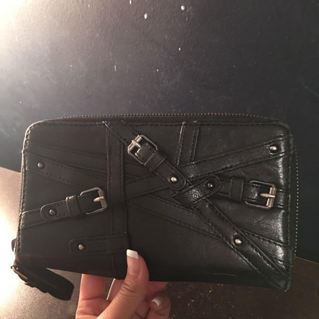 Kennith Cole Black Leather Wallet