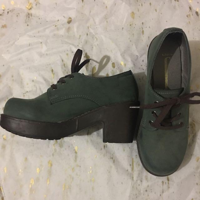 Khaki Shoes - Low Heels