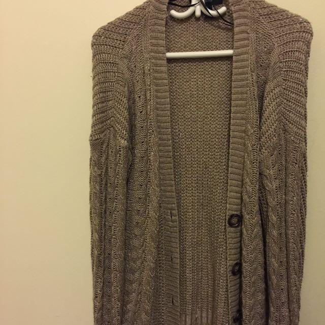 Lazy Knit Cardigan Size Medium