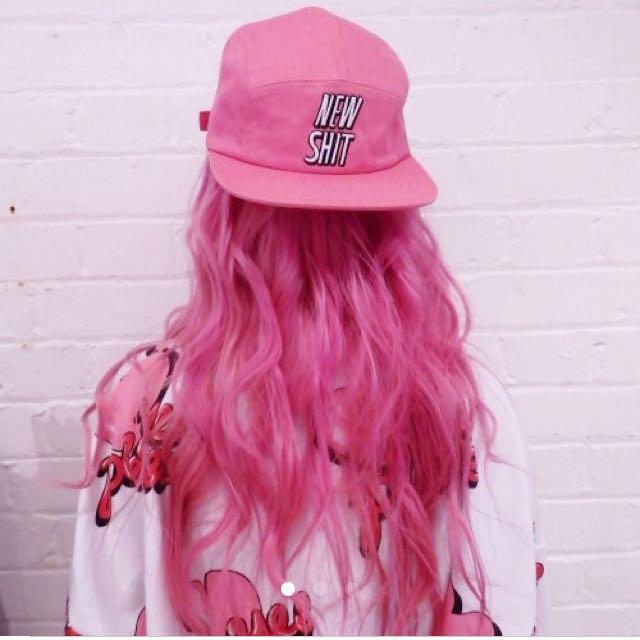 Lazy Oaf 正版 粉紅 潮流 嘻哈 帽 老帽