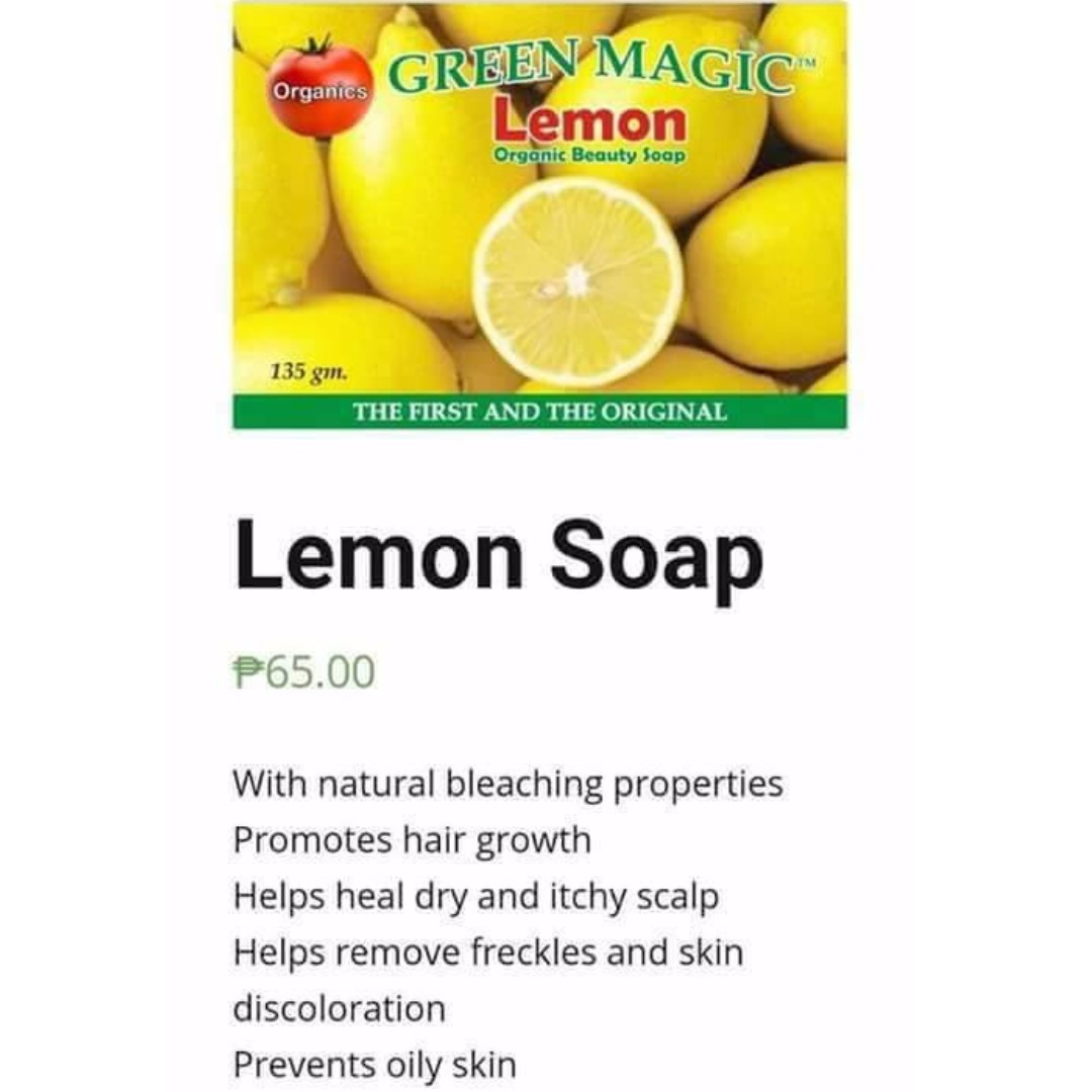 Lemon Green Magic Soap