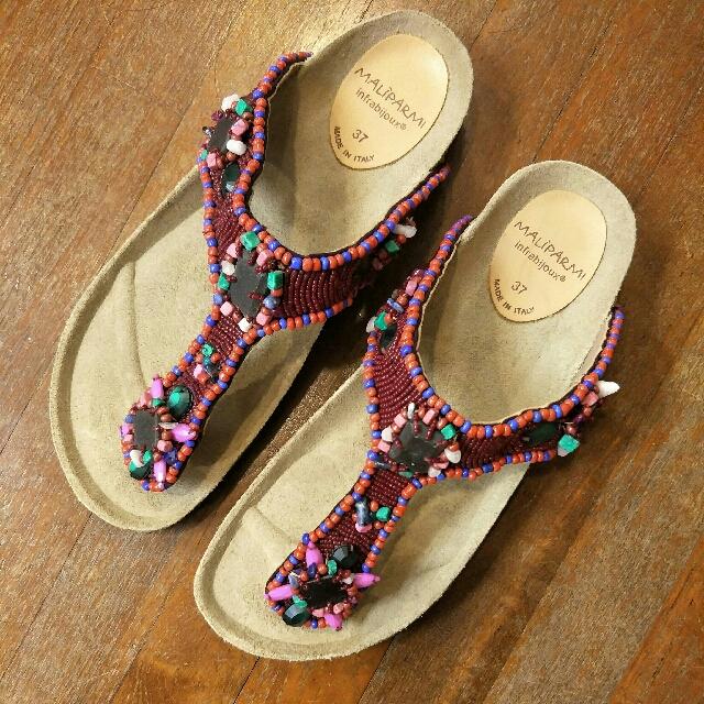 7d344465075b2 Maliparmi Beaded Sandals