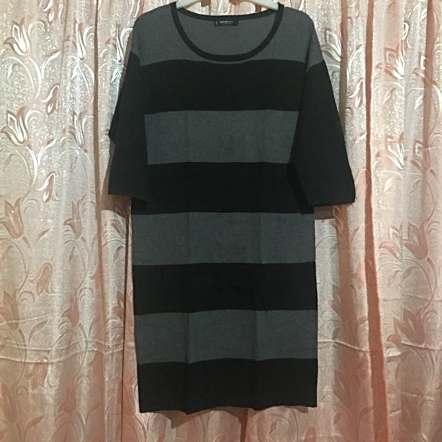 MANGO Stripe 3/4s Dress