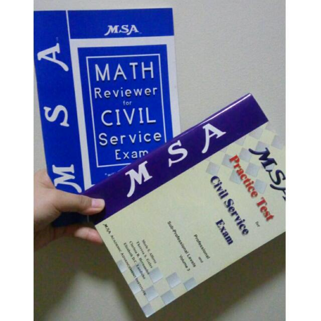 MSA CIVIL SERVICE REVIEWER: MATH REVIERER AND PRACTICE TEST
