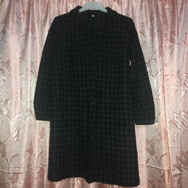 MUJI Checkered Wool Dress