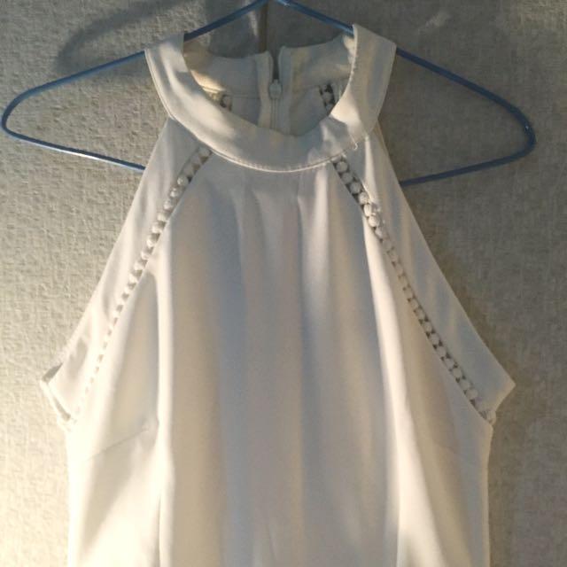 NYLA Halter White Jumpsuit
