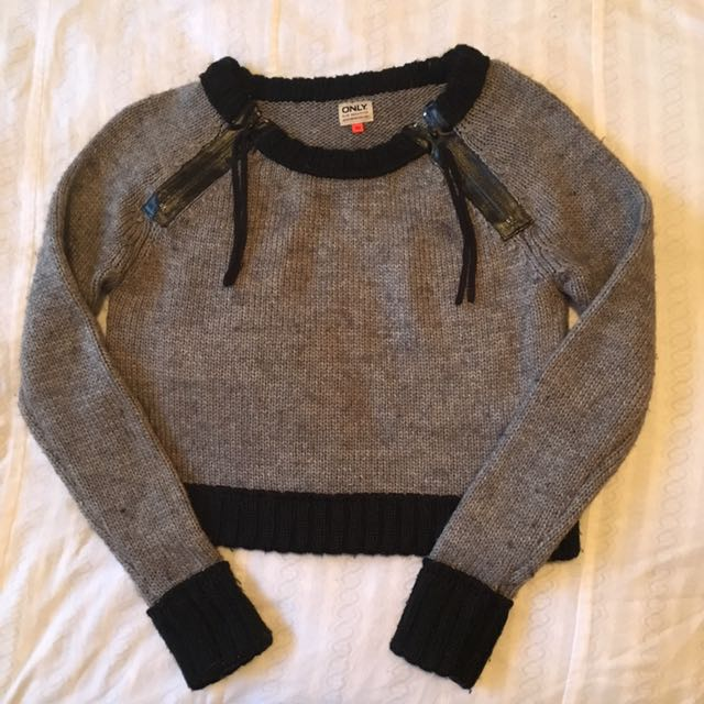 ONLY- Cropped Thick Knit Jumper XS