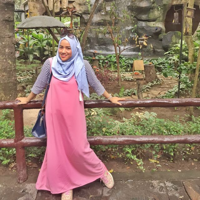 outer dress pink