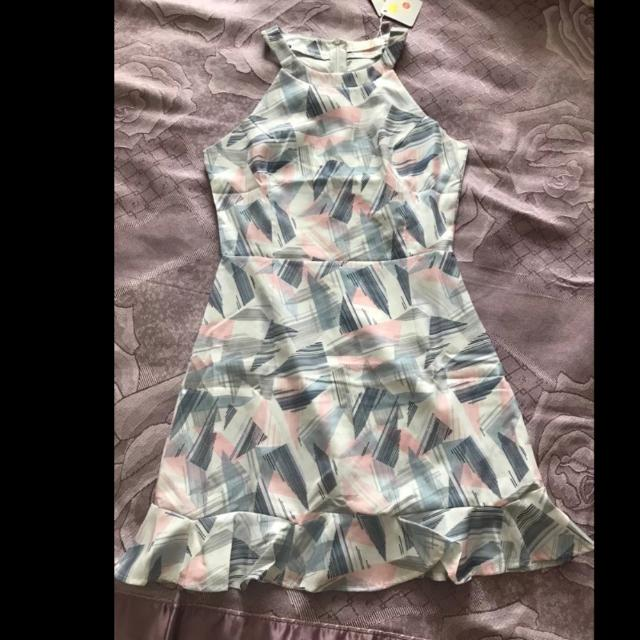 Pastel Brushstrokes Mermaid Dress