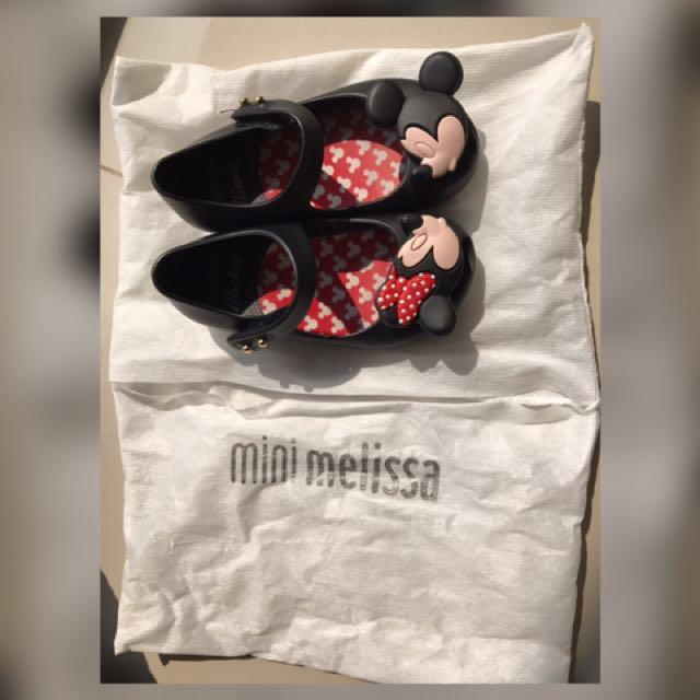Preloved Mini Melissa Shoes (Mickey minnie) - Asli