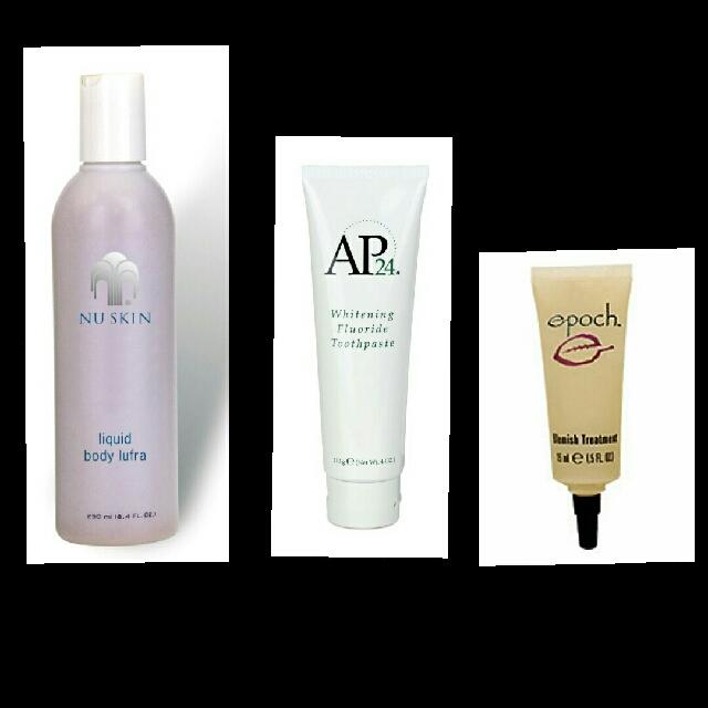 PROMO SALE!!!  Ap24 Whitening Toothpaste  Epoch Blemish Treatment  Liquid Body Lufra