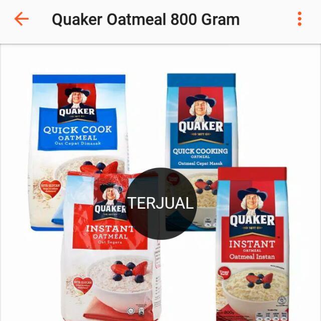 Quacker Oatmeal 800 Gram