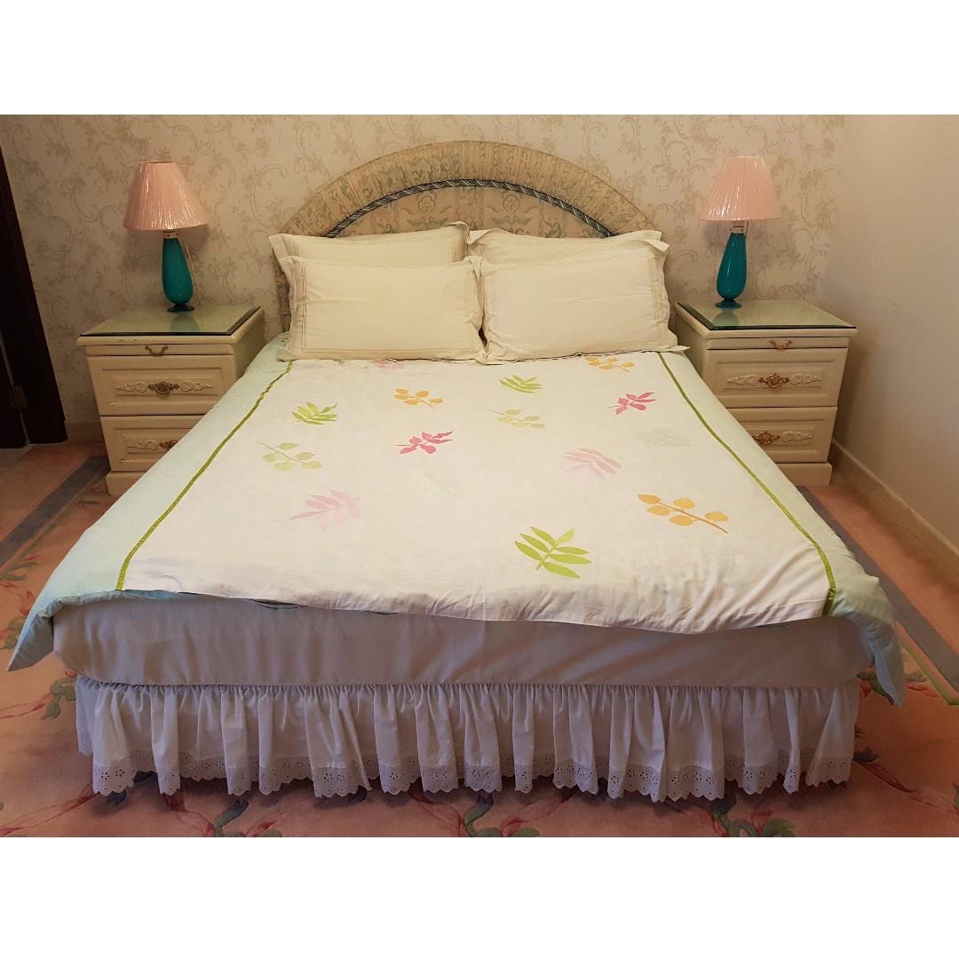 Queen size King Koil mattress, divan and headboard, Furniture, Beds ...