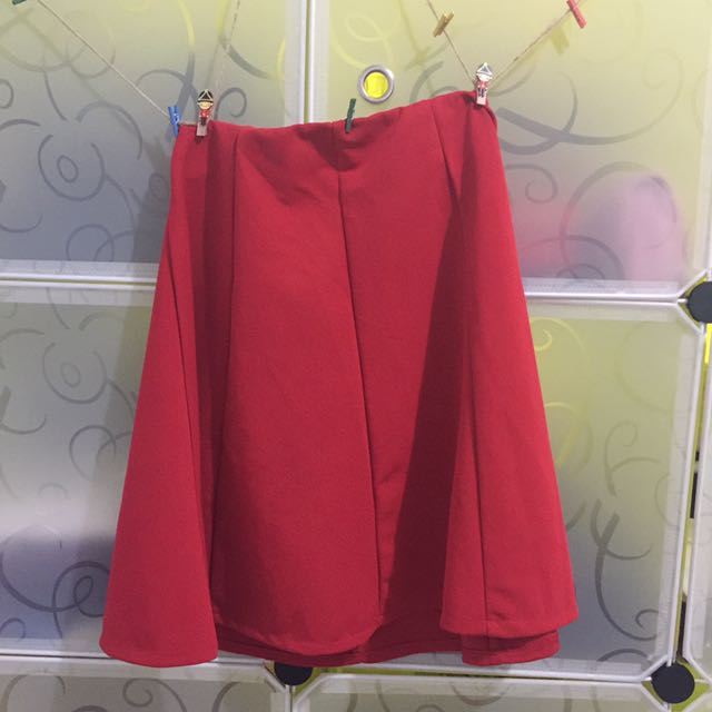 Red Bloom Skirt