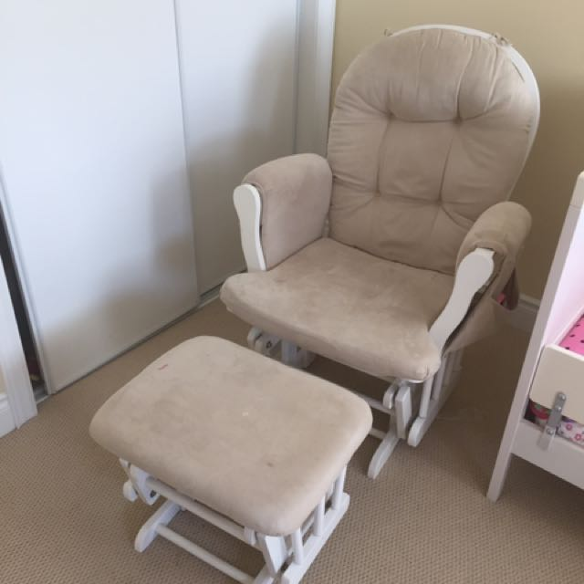 Rocking Chair And Rocking Foot Stool (as Set Only)