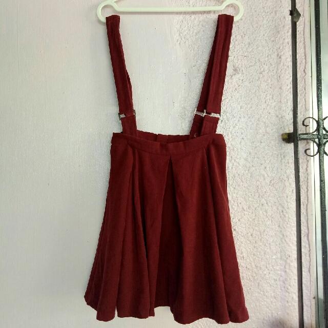 Romper Maroon Skirt